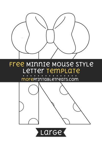 Minnie mouse style letter k template large free minnie mouse style letter k template large spiritdancerdesigns Images