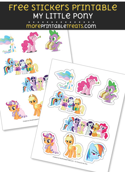 FREE My Little Pony Stickers Printable to Print at Home