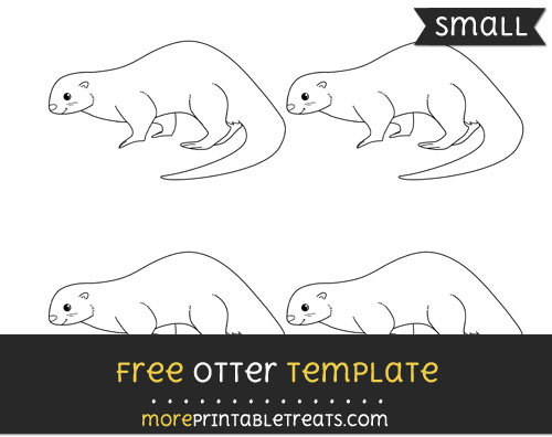 Free Otter Template - Small