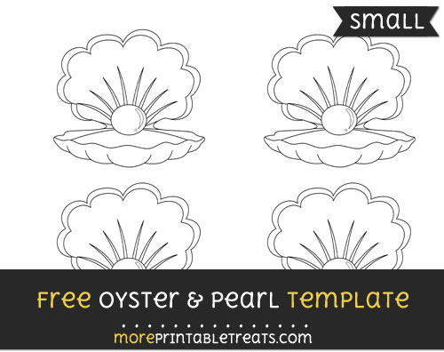 Free Oyster And Pearl Template - Small