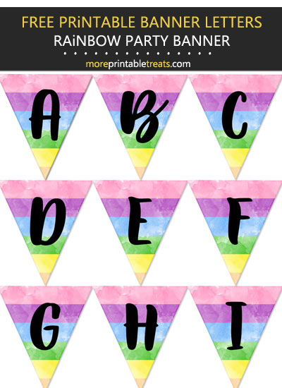 Free Printable Rainbow Birthday Party Bunting Set