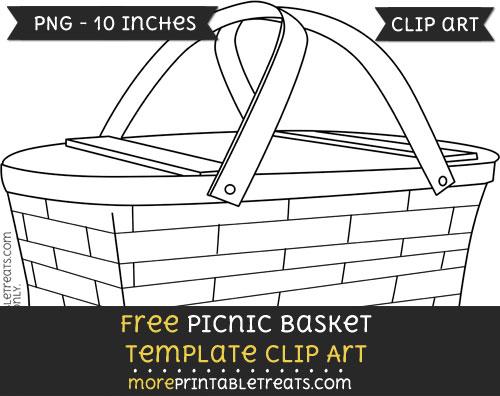 picnic basket template clipart