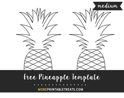 photograph relating to Pineapple Template Printable known as Pineapple Template Medium