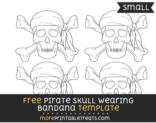 pirate skull wearing bandana template small