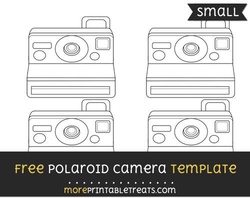 polaroid camera template small