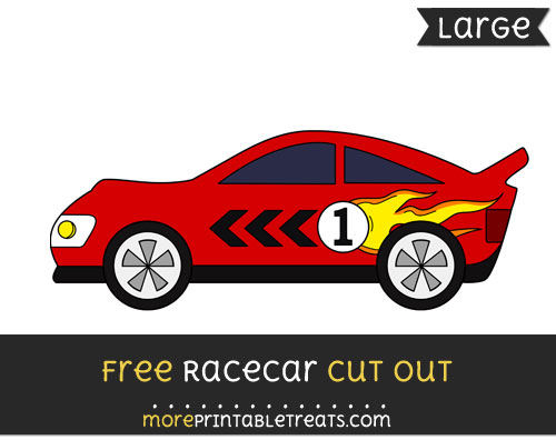 Free Racecar Cut Out - Large size printable