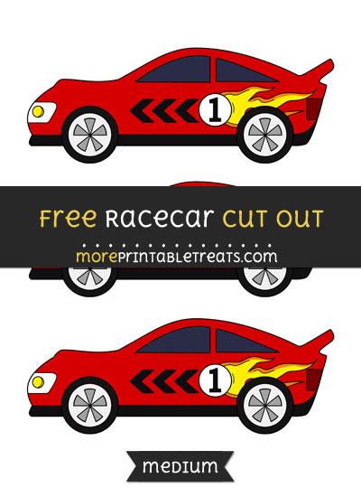 Free Racecar Cut Out - Medium Size Printable