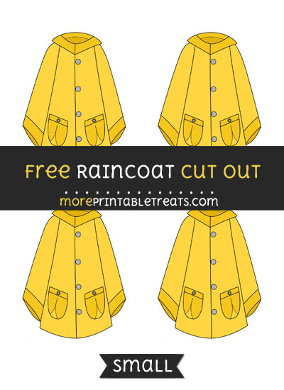Free Raincoat Cut Out - Small Size Printable