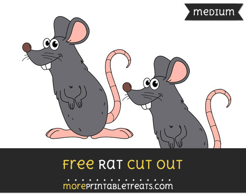 Free Rat Cut Out - Medium Size Printable