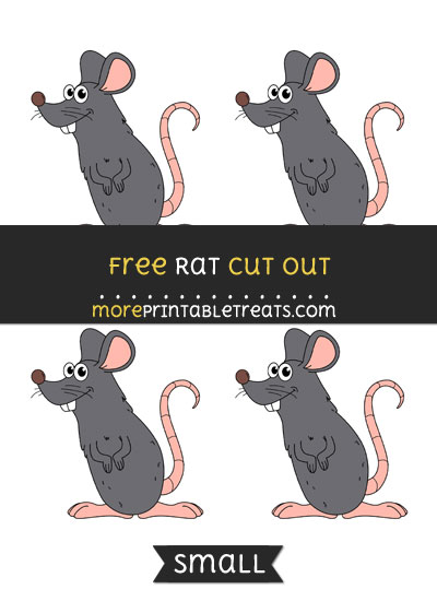 Free Rat Cut Out - Small Size Printable