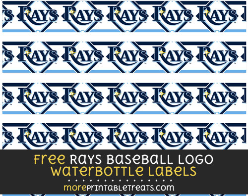 Free Rays Baseball Logo Water Bottle Labels to Print