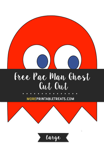Free Red Pac Man Ghost Cut Out - Large
