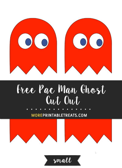 Free Red Pac Man Ghost Cut Out - Small