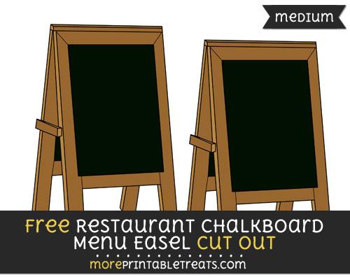 Free Restaurant Chalkboard Menu Easel Cut Out - Medium Size Printable