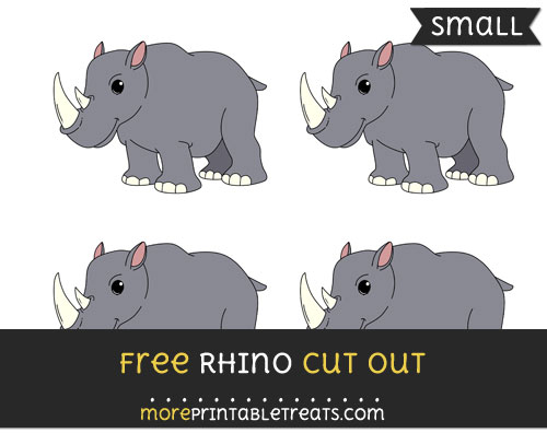 Free Rhino Cut Out - Small Size Printable