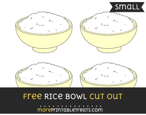 Free Rice Bowl Cut Out - Small Size Printable