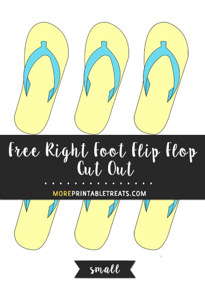 Free Right Foot Flip Flop Cut Out - Small