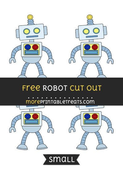 Free Robot Cut Out - Small Size Printable