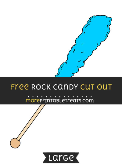 Free Rock Candy Cut Out - Large size printable