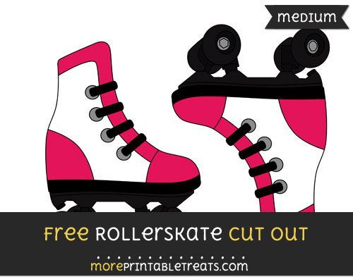 Free Rollerskate Cut Out - Medium Size Printable
