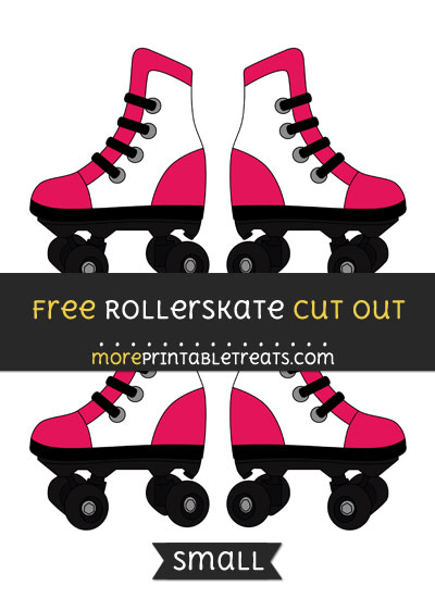 Free Rollerskate Cut Out - Small Size Printable