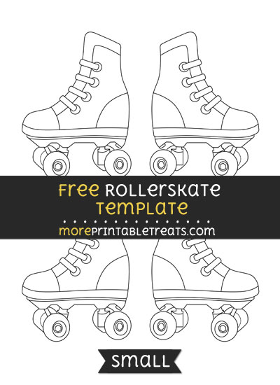 photograph about Roller Skate Template Printable named Rollerskate Template Minor