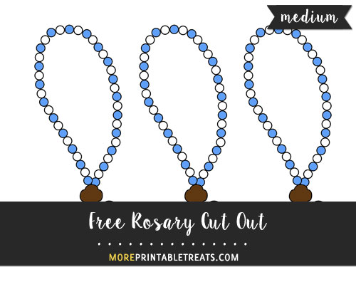 Free Rosary Cut Out - Medium