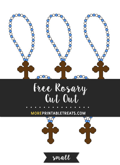Free Rosary Cut Out - Small