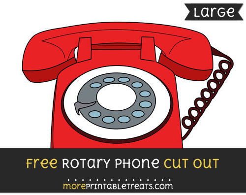 Free Rotary Phone Cut Out - Large size printable