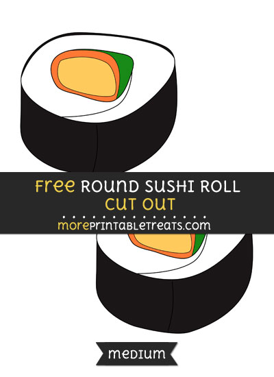 Free Round Sushi Roll Cut Out - Medium Size Printable