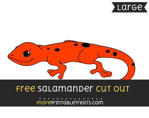 Free Salamander Cut Out - Large size printable