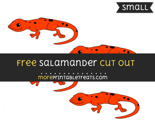 Free Salamander Cut Out - Small Size Printable
