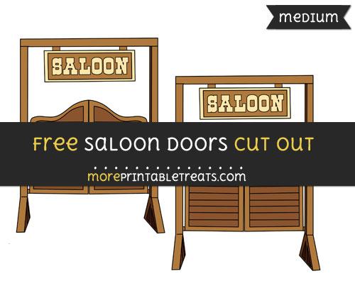 Free Saloon Doors Cut Out - Medium Size Printable