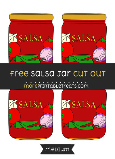 Free Salsa Jar Cut Out - Small Size Printable