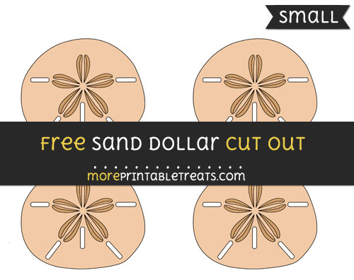 Free Sand Dollar Cut Out - Small Size Printable