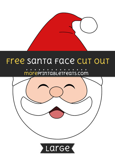 Free Santa Face Cut Out - Large size printable