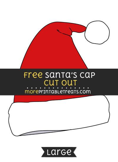 Free Santas Cap Cut Out - Large size printable