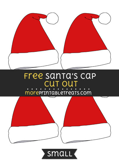 Free Santas Cap Cut Out - Small Size Printable