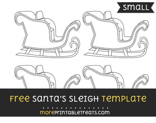 Santas Sleigh Template Small