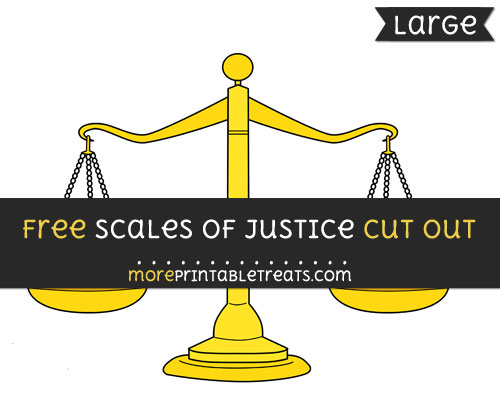 Free Scales Of Justice Cut Out - Large size printable