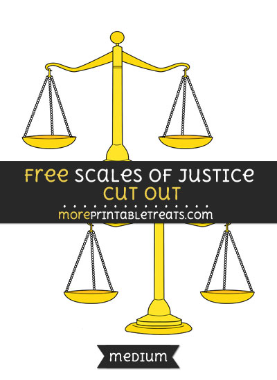 Free Scales Of Justice Cut Out - Medium Size Printable