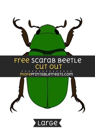 Free Scarab Beetle Cut Out - Large size printable