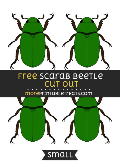 Free Scarab Beetle Cut Out - Small Size Printable