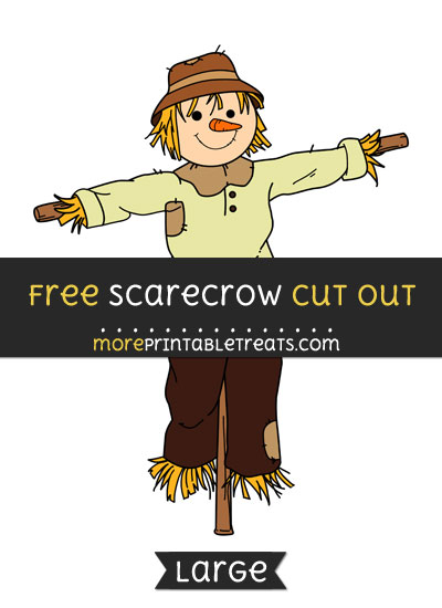 Free Scarecrow Cut Out - Large size printable