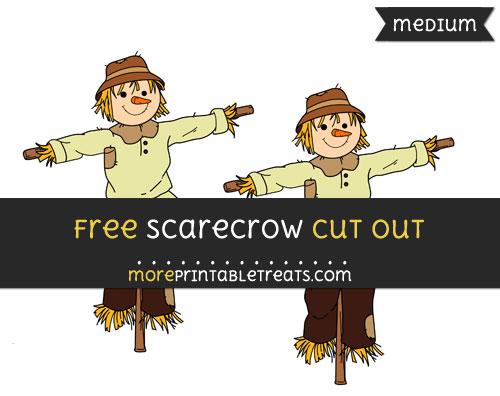 Free Scarecrow Cut Out - Medium Size Printable