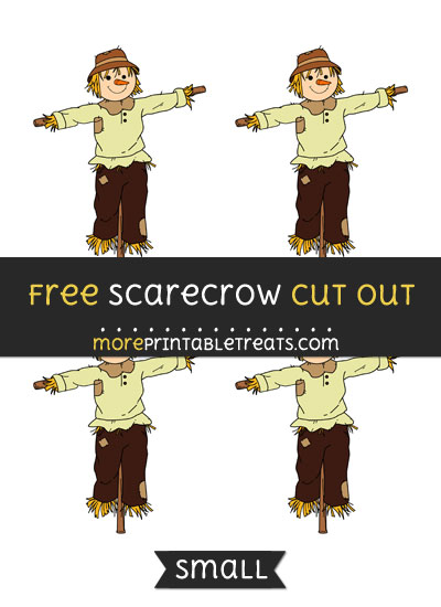 Free Scarecrow Cut Out - Small Size Printable