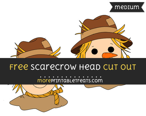 Free Scarecrow Head Cut Out - Medium Size Printable