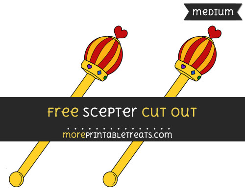 Free Scepter Cut Out - Medium Size Printable