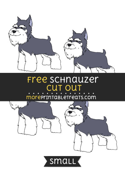 Free Schnauzer Cut Out - Small Size Printable