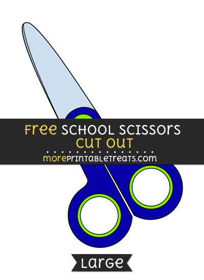 Free School Scissors Cut Out - Large size printable